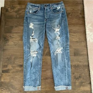 AEO Tomgirl Stretch Ripped Jeans